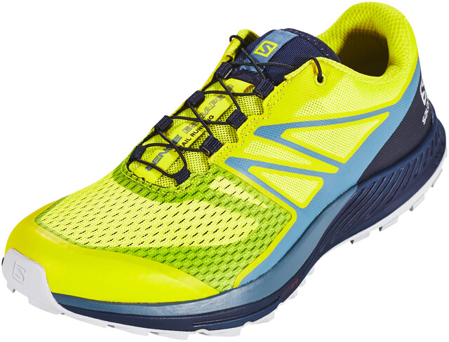 Sale Salomon Trailster GTX® Mens Running Shoes Black Yellow